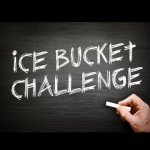 Ice bucket challenge on black