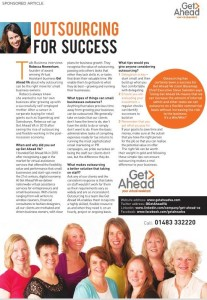 Talk Business magazine advertorial on Get Ahead VA